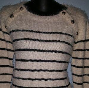 Women's Hairy Striped Long Sleeve